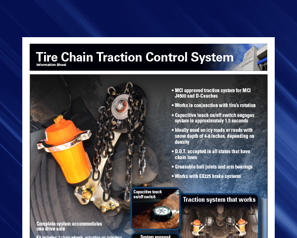 Tire Chain Traction Control System