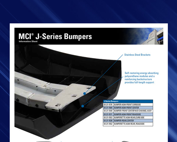 MCI® J-Series Bumpers